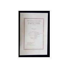 MENIUL UNUI DINEU AL ASOCIATIEI INDUSTRIASILOR DE PETROL DIN ROMANIA , 12 IUNIE , 1925