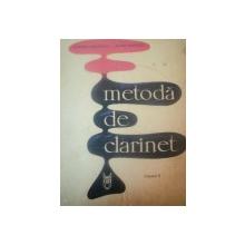 METODA DE CLARINET VOL II de DUMITRU UNGUREANU , EUGEN RADOVICI , 1965