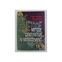 METODE CANTITATIVE IN MANAGEMENT de MARIN ANDREICA ...FLORICA LUBAN , 1998