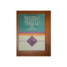 METODICA PREDARII TEXTULUI LITERAR IN LICEU- VALEERIU C. NESTIAN, BUC.1982