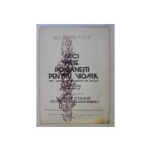 MICI PIESE ROMANESTI PENTRU VIOARA CU ACOMPANIAMENT DE PIAN , CICLUL ELEMENTAR CAIETUL IV de MODEST IFTINCHI , GEORGETA STEFANESCU BARNEA , 1980