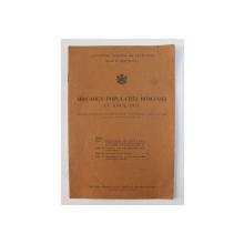 MISCAREA POPULATIEI ROMANIEI IN ANUL 1935  , EXTRAS DIN BULETINUL DEMOGRAFIC AL ROMANIEI , ANUL VI  , NR. 5 - 1937