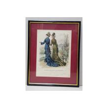 Moda, Le journal des dames et des demoiselles -Gravura,  1878
