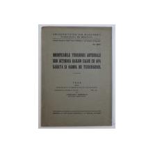 MODIFICARILE TENSIUNEI ARTERIALE SUB ACTIUNEA BAILOR CALDE CU APA SARATA SI NAMOL DE TECHIRGHIOL  - TEZA DE DOCTORAT IN MEDICINA de ADELINA IONESCU , 1937