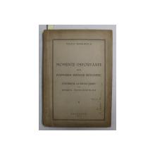 MOMENTE IMPORTANTE DIN FORMAREA STATULUI ROMANESC  - CONTRIBUTIA LUI EDGAR QUINET LA UNIREA PRINCIPATELOR , VOLUMUL I de VASILE MARGHESCU , 1943  , DEDICATIE*