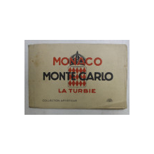 MONACO  - MONTE CARLO - LA TURBIE  - MINIALBUM CU 16 FOTOGRAFII DE EPOCA , EXPLICATII IN FRANCEZA SI ENGLEZA , EDITIE INTERBELICA