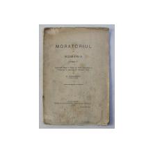 MORATORIUL IN ROMANIA de P. VASILESCU, 1915