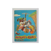 MOTANEL SI AZOREL ALPINISTI , CARTE DE COLORAT de CONSTANTIN BRINDASIU , 1969 , O PAGINA COLORATA CU CARIOCA *