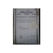 Muscel, Departamentul vistieriei, patent de negustor pentru kir Dumitru...1846