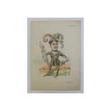 N . FILIPESCU , ' ARMELE MELE ' , CARICATURA , LITOGRAFIE de pictorul NICOLAE PETRESCU - GAINA 1871 - 1931 , 1898