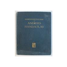 NAMENVERZEICHNIS ZU ANDREES HANDATLAS , 1930