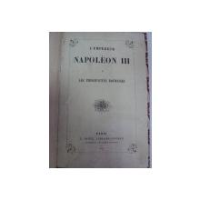 NAPOLEON III ET LES PRINCIPAUTES ROUMAINES  PARIS 1858
