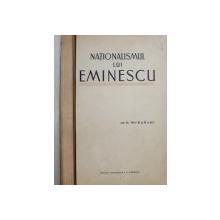 NATIONALISMUL LUI EMINESCU de  D . MURARASU , 1932 , DEDICATIE*