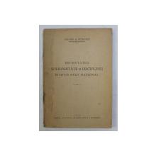NECESITATEA SOLIDARITATII SI DISCIPLINEI INTR- UN STAT NATIONAL de VALERIA A. PETROVICI , 1939 , PREZINTA HALOURI DE APA *, DEDICATIE*
