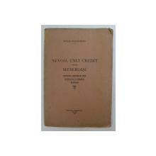 NEVOIA UNUI CREDIT PENTRU MESERIASI de NICOLAE CONSTANTINESCU , 1928