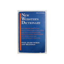 NEW WEBSTERS DICTIONARY - OVER 250000 WORDS AND MEANINGS - edited by R.F. PATTERSON , 1990
