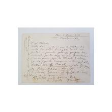 Nicolae Tonitza, Scrisoare catre Otto Briese, 1926