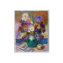 Nicolcea Spineni - Carti, flori si mar pe masa