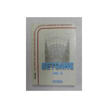 NORMATIVE PRIVIND PROIECTAREA SI EXECUTAREA LUCRARILOR DE BETON , BETON ARMAT SI BETON PRECOMPRIMAT , VOLUMUL IV  , BETOANE , 2010