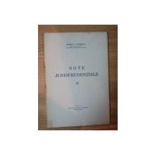 NOTE JURISPRUDENTIALE de GEORGE A. PETRESCU , 1937