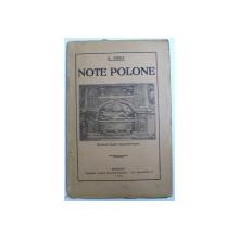 NOTE POLONE de N. IORGA , 1924
