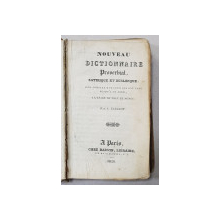 NOUVEAU DICTIONNAIRE PROVERBIAL, SATIRIQUE ET BURLESQUE par A. CAILLOT , 1826
