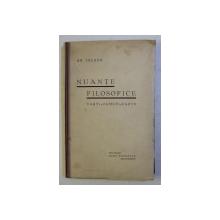 NUANTE FILOSOFICE - CARTI , OAMENI , FAPTE de GR. TAUSAN
