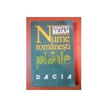 NUME ROMANESTI DE PLANTE de DUMITRU BEJAN  1991
