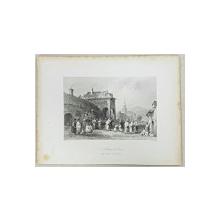 Nunta in Orsova - Gravura de W. H. Bartlett, sec. 19