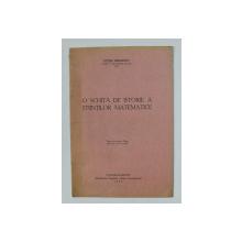 O SCHITA DE ISTORIE A STIINTILOR MATEMATICE de PETRE SERGESCU , 1933