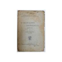 """O SEZATOARE TARANEASCA  ALCATUITA  de LEON MREJERIU , SERIA """" PETRECERI PENTRU POPOR """" , 1907 , DEDICATIE*"""
