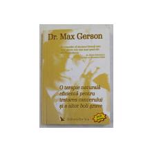 O TERAPIE NATURALA  EFICIENETA PENTRU TRATAREA CANCERULUI SI ALTOR BOLI GRAVE de Dr. MAX GERSON , 2005 , CONTINE  CD *