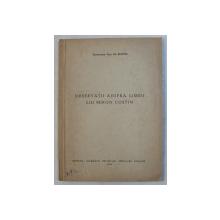 OBSERVATII ASUPRE LIMBII LUI MIRON COSTIN de ACADEMICIAN PROF. AL. ROSETTI , 1950