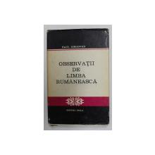 OBSERVATII DE LIMBA RUMANEASCA de PAUL IORGOVICI , 1979