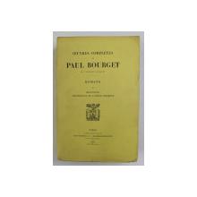 OEUVRES COMPLETES de PAUL BOURGET , ROMANS , TOME II - MESONGES , PSYCIOLOGIE DE L Á MOUR MODERNE , 1901