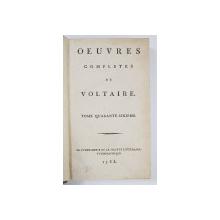 OEUVRES COMPLETES DE VOLTAIRE, TOME 46 - PARIS, 1785