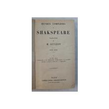 OEUVRES COPLETES DE SHAKESPEARE , traduction de  M . GUIZOT , TOME V , 1931