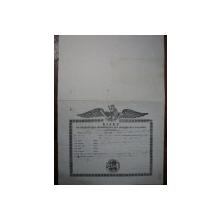 Oltenia, Bilet de export al cerealelor pe numele lui I. Vancea, 1847