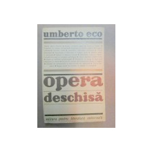 OPERA DESCHISA-UMBERTO ECO  BUCURESTI 1969