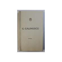 OPERE de GEORGE CALINESCU , VOLUMUL 2 - POEZII , 1965