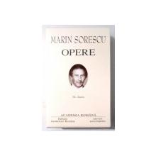 OPERE de MARIN SORESCU , VOL III , TEATRU , 2003