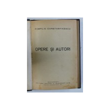OPERE SI AUTORI de POMPILIU CONSTANTINESCU , 1928