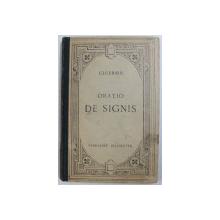 ORATIO DE SIGNIS par CICERON , EDITIE IN LIMBA LATINA , 1927