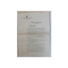 ORDIN CIRCULAR EMIS DE MINISTRUL CULTURII NATIONALE SI AL CULTELOR , GENERAL RADU ROSETTI , DATAT 1941