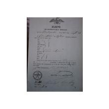 Orsova, bilet de export vite negustor Ivan Milova 1855