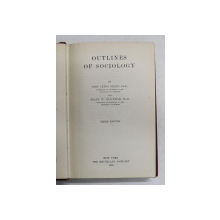 OUTLINES OF SOCIOLOGY by JOHN LEWIS GILLIN and FRANK W. BLACKMAR , 1930