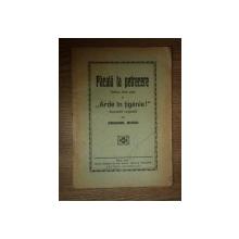 PACALA LA PETRECERE, TABLOU DE LA SATE SI ARDE IN TIGANIE, de EMANOIL SUCIU, SIBIU 1924