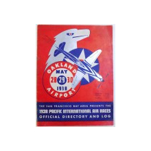 PACIFIC INTERNATIONAL AIR RACES  - OFFICIAL DIRECTORY AND LOG , 1938