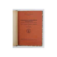 PARALELE FOLKLORICE (GRECO-ROMANE) -TACHE PAPAHAGI  BUCURESTI 1944
