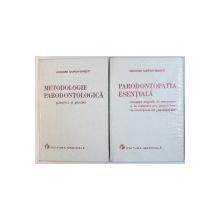 PARODONTOPATIA ESENTIALA / METODOLOGIE PARODONTOLOGICA , 2 VOLUME de GRIGORE OSIPOV  - SINESTI , 1976